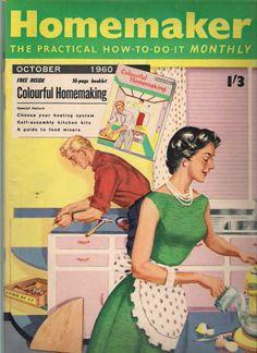 a mulher cozinha, o homem conserta