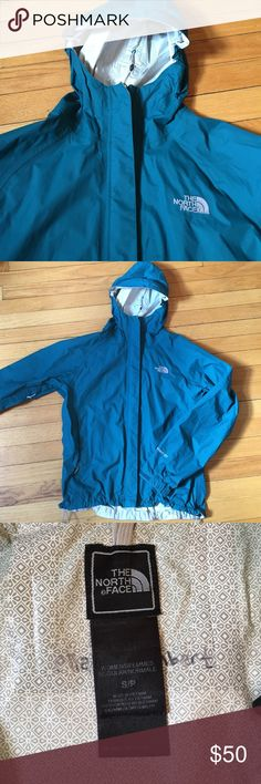 Teal North Face raincoat Great condition North Face Jackets & Coats