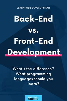 So you want to learn to code, but you're not sure what back-end and front-end web development mean? No probs! Use this free guide for beginners to learn what back-end and front-end developers do, and which programming languages they use to build websites and applications. Start learning the right skills today: HTML, CSS, JavaScript, PHP, Python, Ruby, and other in-demand languages you will need to land your first developer job this year! #mikkegoes Learn Html, Learn To Code, Programming Languages, Computer Programming, Coding For Beginners, Good Tutorials, Python, Web Development, Web Design