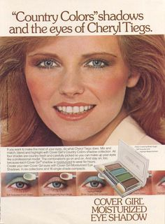 Cheryl Tiegs for Cover Girl Country Colors ad 1980