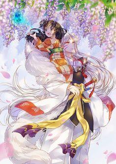 Cute Run and Sesshomaru Fan art from the anime InuYasha Amor Inuyasha, Inuyasha Fan Art, Inuyasha Love, Ghibli, Inuyasha And Sesshomaru, Kagome Higurashi, Anime Love, Manga Anime, Best Shoujo Manga