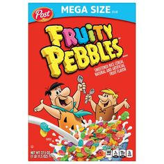 Fruity Pebbles Treats, Fruity Pebbles Cereal, Low Carb Cereal, Gluten Free Cereal, Crunch Cereal, Colorful Desserts, Rice Cereal, Cereal Boxes, Rice Crispy Treats