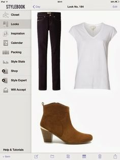 What to wear with a white cotton top: dark straight jeans and suede boots.