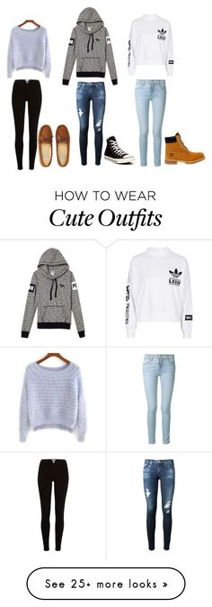 """cute outfits"" by karynronzaa on Polyvore featuring Aéropostale, adidas, AG Adriano Goldschmied, Frame Denim, Converse and Timberland"