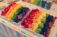 rainbow veggie & fruit trays