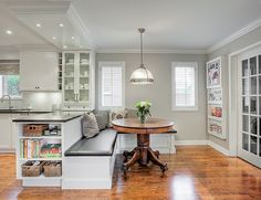 15 Kitchen Banquette Seating Ideas For Your Breakfast Nook Kitchen Island Ideas Banquette Breakfast Ideas Kitchen Nook Seating Kitchen Island Booth, Booth Seating In Kitchen, Banquette Seating In Kitchen, Kitchen Booths, Kitchen Peninsula, Kitchen Benches, Dining Nook, Kitchen Nook, Kitchen Layout