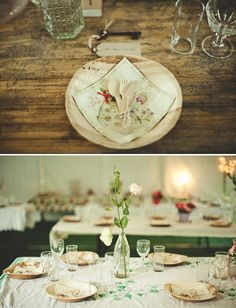 So many cute ways to use eco-friendly disposable ware at weddings -- look at this one!