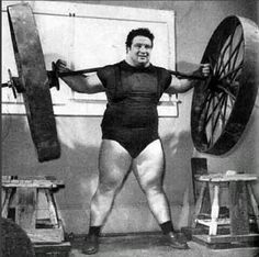 Paul Anderson backlifting 6270 lbs, the greatest weight ever lifted by a human being Toccoa, Georgia, 1957.