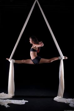 Aerial splits lovely im trying this!!