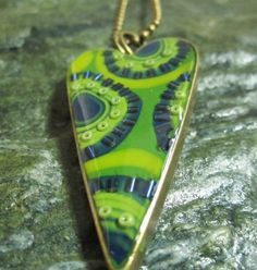Items similar to Valentine heart mixed media pendant in blue, green and yellow on Etsy Blue Green, Yellow, Valentine Heart, Evolution, Polymer Clay, Mixed Media, Journey, Pendant Necklace, Etsy