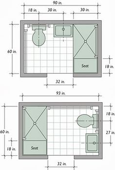 Using available space to build a basement bathroom will cut down on expenses, Small master bathroom ideas, Basement bathroom and Small bathroom ideas. bathroom ideas layout Trendy Basement Bathroom Ideas for Small Space Small Bathroom Floor Plans, Small Bathroom Layout, Bathroom Design Layout, Simple Bathroom, Modern Bathroom, Bathroom Layout Plans, Narrow Bathroom, Small Bathroom Dimensions, Bathroom Interior