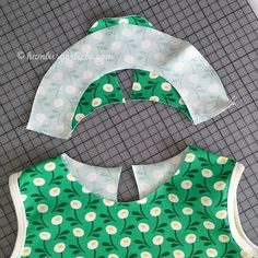 Tutorial Tuesday: Kleines Kragenlatein Teil der Bubikragen Hamburger Liebe: Tutorial Tuesday: Small collar latex Part the Peter Pan collar Peter Pan, Sewing Patterns Free, Free Pattern, Baby Shirts, Learn To Sew, Couture, Sewing Hacks, Textile Art, Stretch Fabric