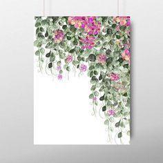 Watercolor Print, Watercolor Flowers, Watercolor Paintings, Watercolor Portraits, Watercolor Landscape, Abstract Paintings, Botanical Wall Art, Botanical Prints, Arte Van Gogh
