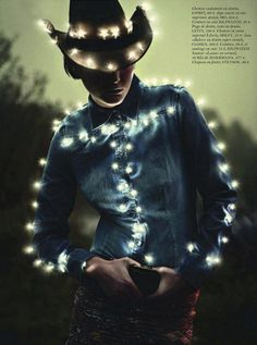 best disco cowgirl, from vogue paris - this is just baffling to look at