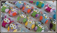 Chaveirinhos em crochê de corujinhas é claro...kkkk... #amocorujinhas <3