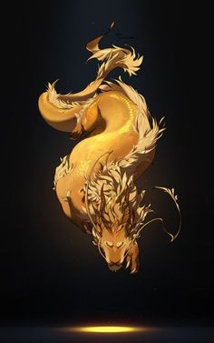 Fantasy Weave Your Own Kind Of Magic With Mythical Animal Art - Bored Art Mythical Creatures Art, Mythological Creatures, Magical Creatures, Fantasy Creatures, Creature Concept Art, Creature Design, Fantasy Dragon, Fantasy Art, Tiamat Dragon