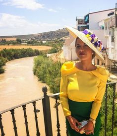 Pamela by Rita Von € Party Fashion, Fashion Outfits, Womens Fashion, Facinator Hats, Yellow Clothes, Wedding Looks, Elegant Dresses, Hats For Women, Dress Skirt
