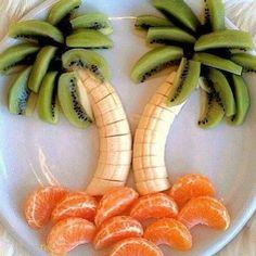 Cute and healthy summer breakfast