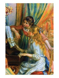 """""""Girls at the Piano"""" by Renoir"""