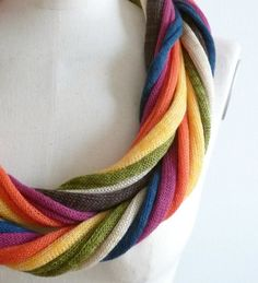 7 Loops necklace scarves  rainbow by nitca on Etsy