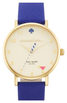 It's 5 o'clock somewhere! Obsessed with this cute Kate Spade watch. The pink martini is the best part :)