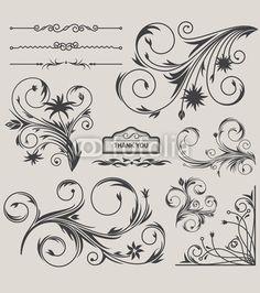 #floral #decorative #elements #design