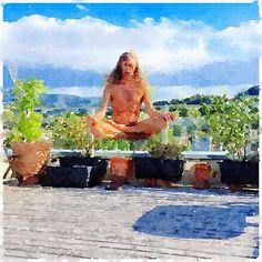 #Levitation & #Meditation klappt schon ganz gut