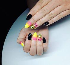 Colors  #nailart #nails4yummies #instanails #colorfulnails #rainbownails #summernails #nailswag #almondnails #nailartaddict #nails2inspire #inspirationnails #nailinspiration by anecixy