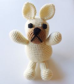 Crocheted French Bulldog | Perfect for your kiddo or as a gift! | Mackenzie Makes
