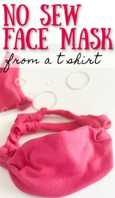 Step-by-step instructions to make a NO SEW cloth face mask from a t-shirt