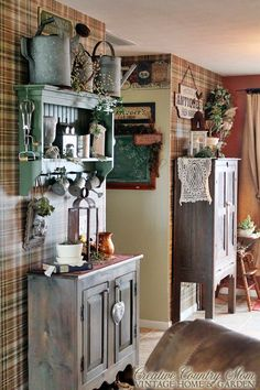 Creative Country Mom's: Country Hutch Display and Venting About Social Media Woes