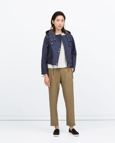 HIGH WAIST TROUSERS-View all-Trousers-WOMAN | ZARA United States