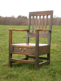 Century Welsh Oak And Fruitwood Lambing Armchair Welsh Country, Antique Armchairs, Wooden Armchair, Oak Dresser, Primitive Furniture, Outdoor Chairs, Outdoor Decor, Cool Countries, Victorian Homes