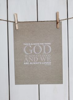 God is Good (Ann Voskamp inspired, SS print shop)