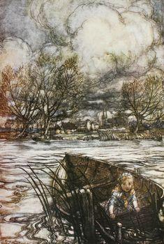 Adrift 1913 Arthur Rackham's Book of Pictures