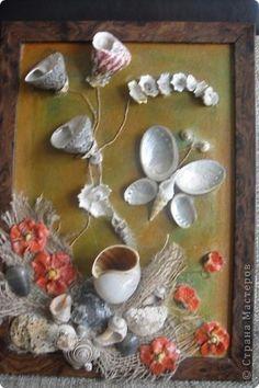 💗luv this--seashells art-- Rock Crafts, Diy Arts And Crafts, Diy Craft Projects, Handmade Crafts, Diy Crafts, Seashell Art, Seashell Crafts, Beach Crafts, Shells And Sand