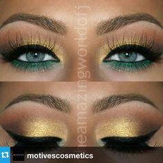 #Repost from @motivescosmetics --- Green & Gold by @theamazingworldofj  ______________________________ All #motives products are available for US/CAN at http://ift.tt/1M2yMRF or internationally at http://ift.tt/1Ih5iwV #motd #motivescosmetics #makeup #beauty #glam #mua #makeupartist #makeupguru #makeover #lips #lipsticks #maquillaje #maquillador #maquillista #belleza #salon #labial #labios via @angela4design by nanisura