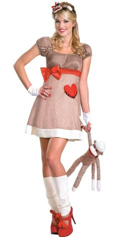 Adult Deluxe Sock Monkey Costume for Women - Party City