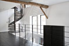 Rampe m tal pour escaliers on pinterest mezzanine metals and railings - Caisson en bois brut ...