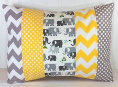Pillow Cover Unisex Nursery Decor Boy or Girl by theredpistachio, $22.50