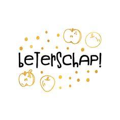 Hippe beterschapskaart met een speelse tekst en gouden appels en confetti (geen goudfolie)! | Maak deze kaart bij Kaartje2go