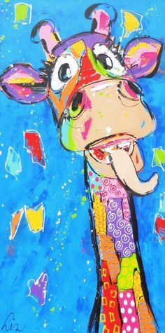 Giraffes schilderijen