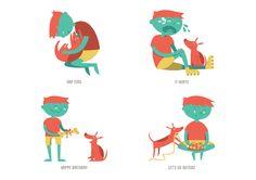 Ari & Milo by Patrícia Mafra, via Behance