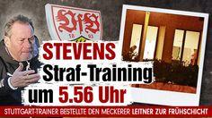 Stuttgart-Trainer Huub Stevens setzt Straftraining um 5.56 Uhr für Moritz Leitner! VfB-Coach bestellte den Meckerer zur Frühschicht http://www.bild.de/sport/fussball/vfb-stuttgart/stevens-straftraining-um-5-56-uhr-39426270.bild.html