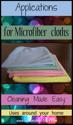 Ultra Microfibers has tips ways to use and applications for microfiber cloths. How to maximize your use of your cloths. (Economy $5 each) http://www.ultramicrofibers.com/How-To-Use-Microfiber
