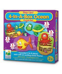 Look at this #zulilyfind! Ocean 4-in-a-Box Puzzle Set #zulilyfinds