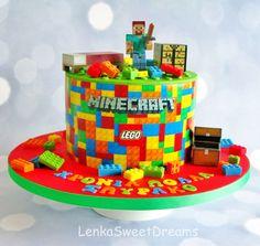 Lego / Minecraft cake.