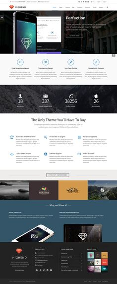 Highend – Ultimate Multi-Purpose WordPress Theme on Behance