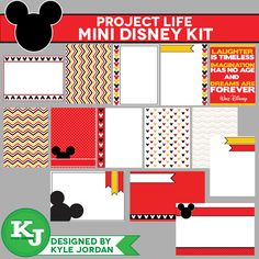 On Sale This Friday Only. $2.00 Project Life - Disney Journaling Cards - , via Etsy.