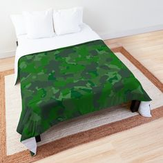 'Green camo design' Comforter by MidnightBrain Camo Designs, Duvet Bedding, Bed Covers, Comforters, Printed, Awesome, Green, People, Inspiration